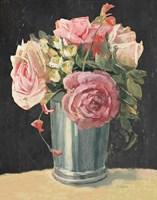 Silver Vase II on Black Fine-Art Print