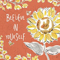 Bee Happy V Spice Fine-Art Print