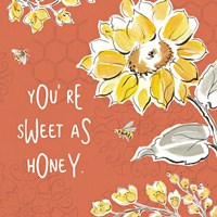 Bee Happy III Spice Framed Print
