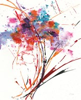 Floral Explosion I on White Fine-Art Print