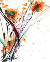 Floral Explosion II on White Fine-Art Print