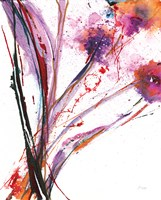 Floral Explosion III on White Fine-Art Print