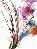 Floral Explosion IV on White Fine-Art Print