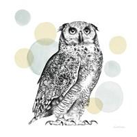Sketchbook Lodge Owl Neutral Fine-Art Print