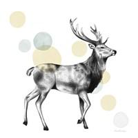 Sketchbook Lodge Stag Neutral Fine-Art Print