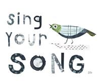 Bird Words III Fine-Art Print