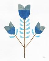 Retro Blooms I Fine-Art Print