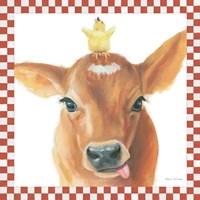 Farm Friends III Border Fine-Art Print