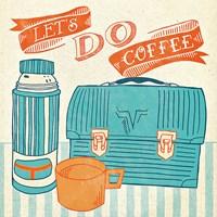 Let's Do Coffee Orange Fine-Art Print