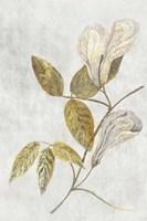 Botanical Gold on White III Fine-Art Print