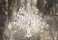 White Chandelier on Ebony Fine-Art Print