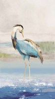 Heron on the Beach I Fine-Art Print