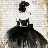 Lady in Black Dress Fine-Art Print