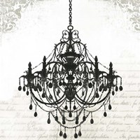 Black Chandelier II Fine-Art Print