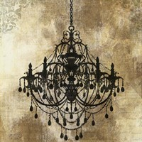 Chandelier Gold I Fine-Art Print