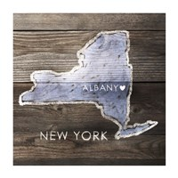 New York Rustic  Map Fine-Art Print