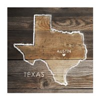 Texas Rustic Map Fine-Art Print