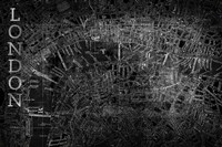 Map London Black Fine-Art Print