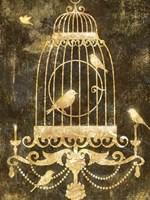 Deco Gold Distress II Fine-Art Print