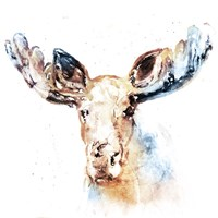 Watercolour Moose Fine-Art Print