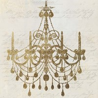 Golden Chandelier II Fine-Art Print