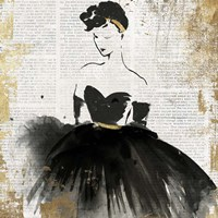 Lady in Black I Fine-Art Print