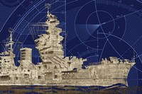 Blueprint Submarine I Fine-Art Print