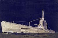 Blueprint Submarine II Fine-Art Print