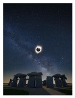 Eclipse at Carhenge Fine-Art Print