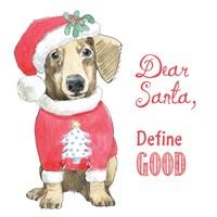 Glamour Pups Christmas III Dear Santa Fine-Art Print