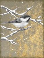 Winter Birds Chicadee Neutral Fine-Art Print