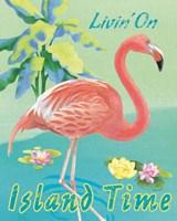 Island Time Flamingo II Fine-Art Print
