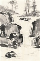 Sumi Waterfall II Fine-Art Print