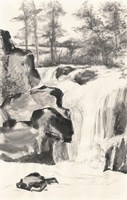 Sumi Waterfall I Fine-Art Print