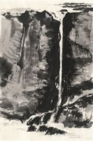 Sumi Waterfall View III Fine-Art Print