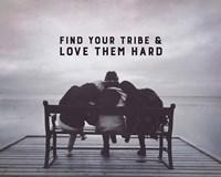 Find Your Tribe - Friend Trio Grayscale Fine-Art Print