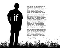 If by Rudyard Kipling - Man Silhouette White Fine-Art Print
