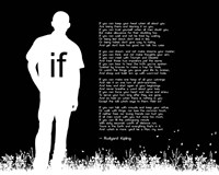 If by Rudyard Kipling - Man Silhouette Black Fine-Art Print