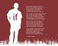 If by Rudyard Kipling - Man Silhouette Red Fine-Art Print