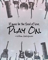 If Music Be The Food Of Love Shakespeare Musical Instruments Fine-Art Print