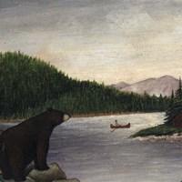North Woods Bear II Fine-Art Print