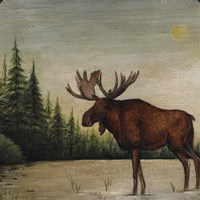 North Woods Moose II Fine-Art Print