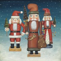 Santa Nutcrackers Snow Fine-Art Print