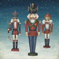 Soldier Nutcrackers Snow Fine-Art Print