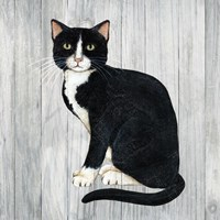 Country Kitty I on Wood Fine-Art Print