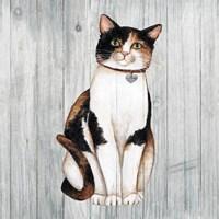 Country Kitty III on Wood Fine-Art Print