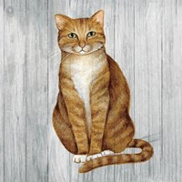 Country Kitty II on Wood Fine-Art Print