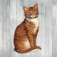 Country Kitty IV on Wood Fine-Art Print