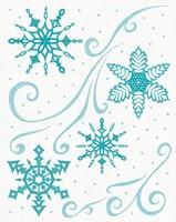 Christmas Otomi Tile I Fine-Art Print
