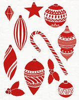 Christmas Otomi Tile III Fine-Art Print
